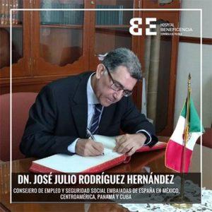 visita de Dn. José Julio Rodríguez Hernández , Consejero de Empleo y Seguridad Social